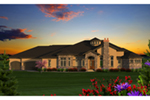 Southwestern House Plan Front of Home - Faracci Italian Luxury Home 051D-0825 | House Plans and More