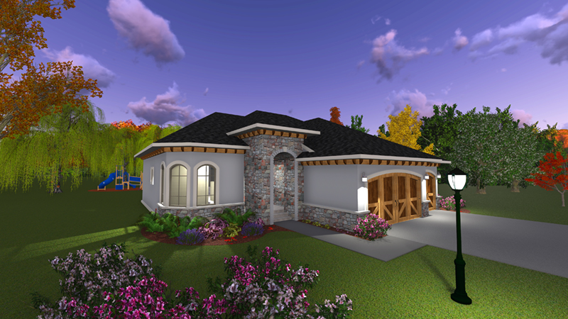 Sunbelt Home Plan Front Photo 02 - Sereno Italian Ranch Home 051D-0831 | House Plans and More