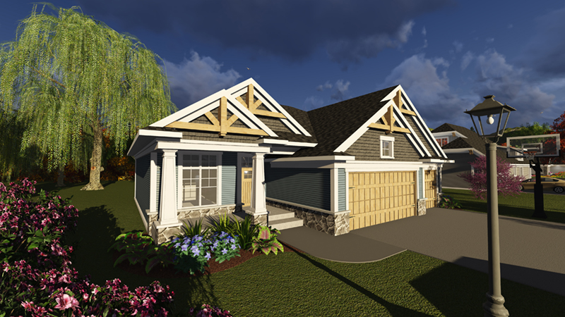 Percy Arts & Crafts Ranch Home Plan 051D-0835   House Plans ... on arts and crafts post and beam, arts and crafts bungalow home plans, arts and crafts carriage house, arts and crafts small house plans,