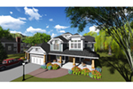 Craftsman House Plan Front of Home - Mosby Place Luxury Home 051D-0846 | House Plans and More