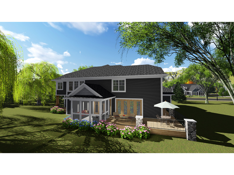 Craftsman House Plan Rear Photo 01 - Mosby Place Luxury Home 051D-0846 | House Plans and More