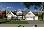Craftsman House Plan Front of Home - York Traditional Home 051D-0876 | House Plans and More