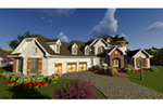 European House Plan Front Of House 051D-0884