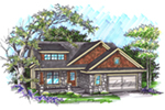 Ranch House Plan Front of House 051D-0908