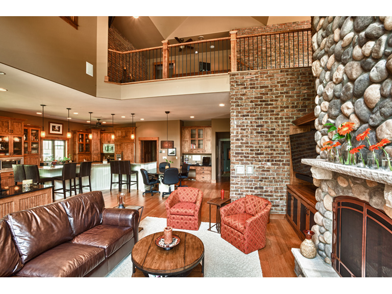 Traditional House Plan Living Room Photo 01 - Owen Point Craftsman Home 051D-0915   House Plans and More