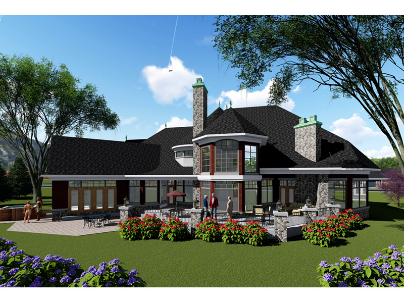 Rear Photo 01 -  051D-0940 | House Plans and More
