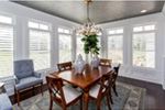 Country French House Plan Dining Room Photo 02 - Olson Crossing Ranch Home 051D-0960 | House Plans and More