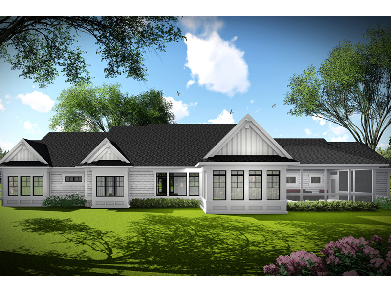 Country French House Plan Rear Photo 05 - Olson Crossing Ranch Home 051D-0960 | House Plans and More
