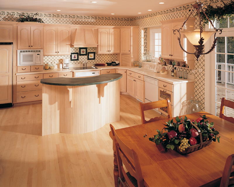 Country French House Plan Kitchen Photo 01 - Chalet Style Home | 4 Bedroom 2 Story House Plan