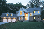 Angled Two-Story Has Grand Curb Appeal And Neoclassical Appeal