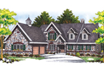 Luxurious European Style Home With Friendly Planter Boxes Across The Front