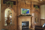 European House Plan Fireplace Photo 01 - Parklawn Luxury Home 051S-0053 | House Plans and More