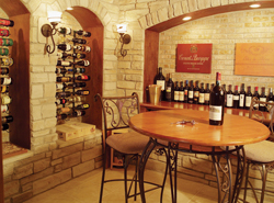 cozy home wine cellar