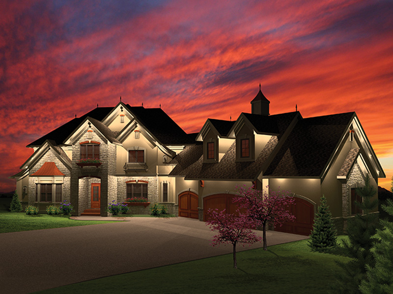 Luxury House Plan Front of Home - Mansionhill Luxury Home 051S-0096 | House Plans and More