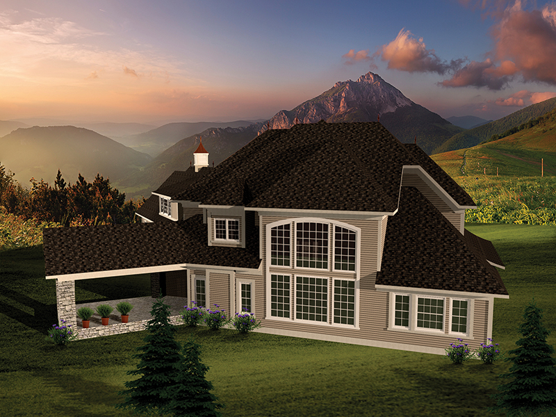 Luxury House Plan Rear Photo 01 - Mansionhill Luxury Home 051S-0096 | House Plans and More