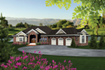 Ranch House Plan Front of House 051S-0098