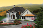 European House Plan Front of House 051S-0099