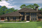 European House Plan Front of House 051S-0100