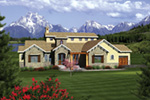 European House Plan Front of House 051S-0101
