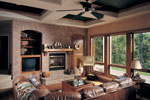 Traditional House Plan Family Room Photo 01 - Talia Stucco Luxury Home 051S-0103 | House Plans and More