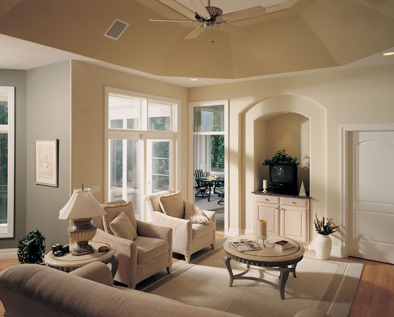 Traditional House Plan Living Room Photo 01 - Talia Stucco Luxury Home 051S-0103 | House Plans and More