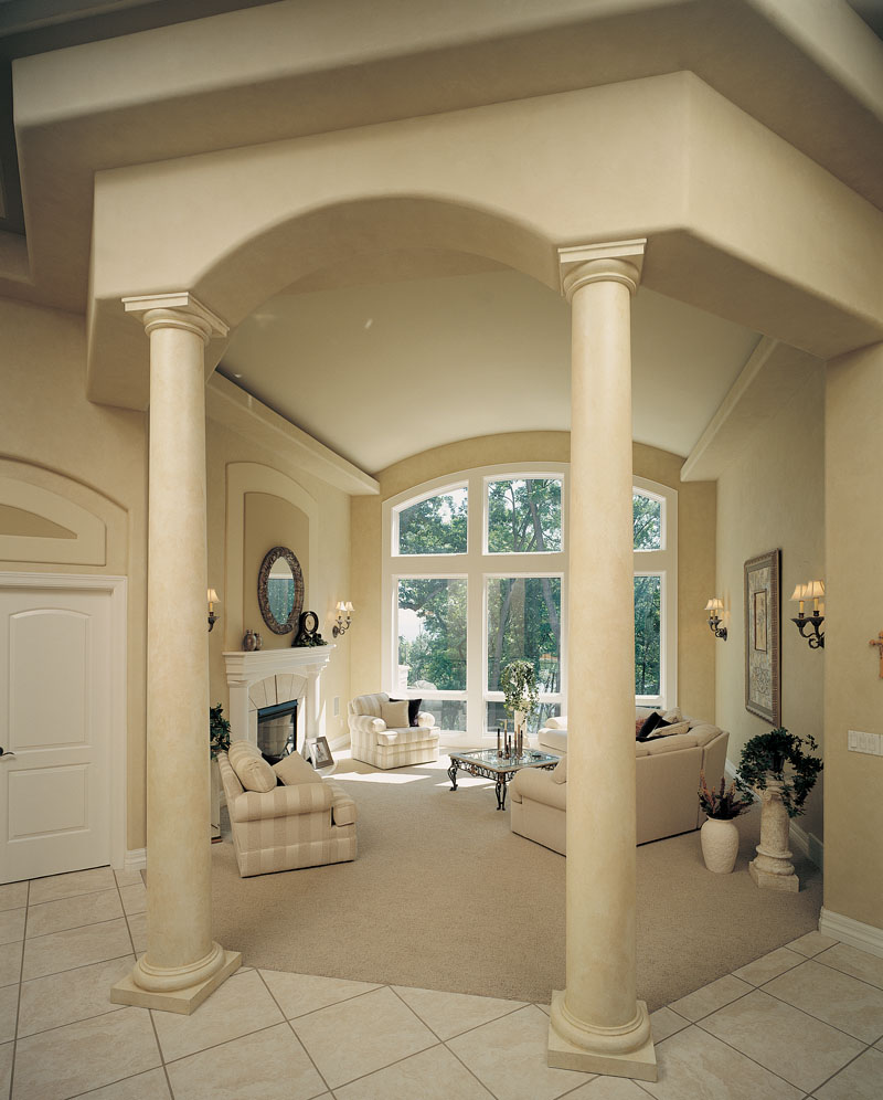 Traditional House Plan Living Room Photo 02 - Talia Stucco Luxury Home 051S-0103 | House Plans and More