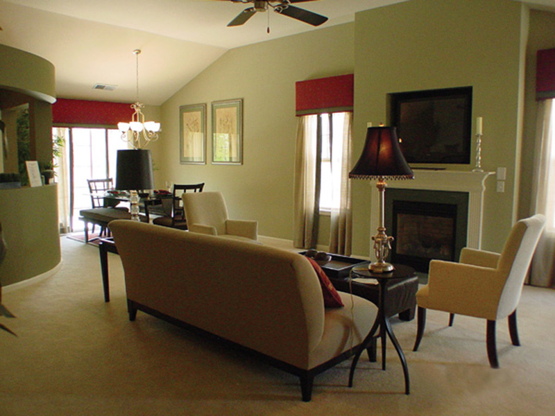 Country House Plan Living Room Photo 01 - Prichard Traditional Ranch Home 052D-0019 | House Plans and More