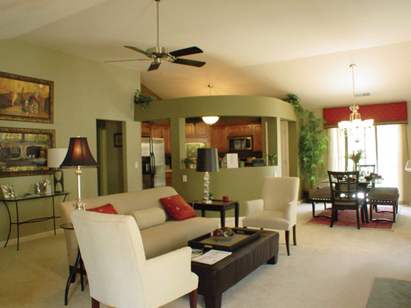 Country House Plan Living Room Photo 02 - Prichard Traditional Ranch Home 052D-0019 | House Plans and More