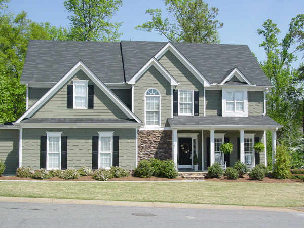 Shingle House Plan Front Photo 01 - Farmers Mill Country Home 052D-0078 | House Plans and More
