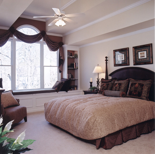 Shingle House Plan Master Bedroom Photo 01 - Farmers Mill Country Home 052D-0078 | House Plans and More