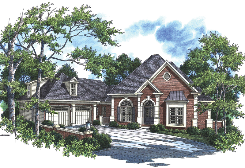 Medina Bay Luxury Home Plan 052D-0101   House Plans and More on house plans with rear entry garage, house plans with interior entry garage, house with garage on side, house plans with front screened porch, house plans with front living room, house plans with back entry garage, house plans with front fireplace,
