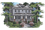 Country House Plan Front of House 052D-0120