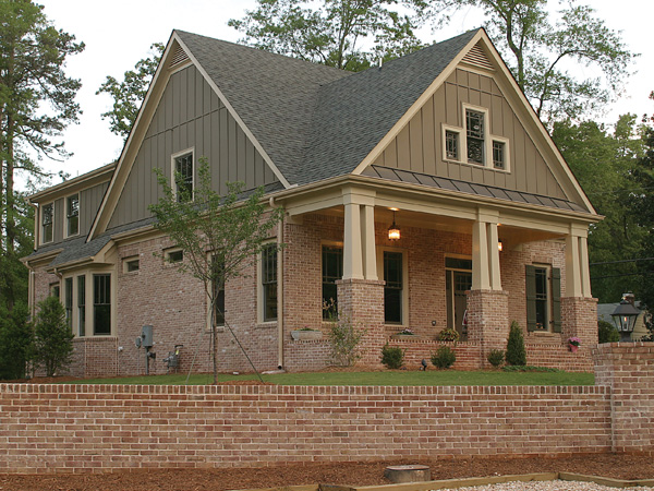 Craftsman House Plan Front Photo 01 - Green Trace Craftsman Home 052D-0121 | House Plans and More