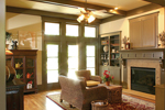 Craftsman House Plan Living Room Photo 01 - Green Trace Craftsman Home 052D-0121 | House Plans and More