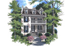 Southern Plantation House Plan Front of Home - Ellis Place Luxury Home  052D-0139 | House Plans and More