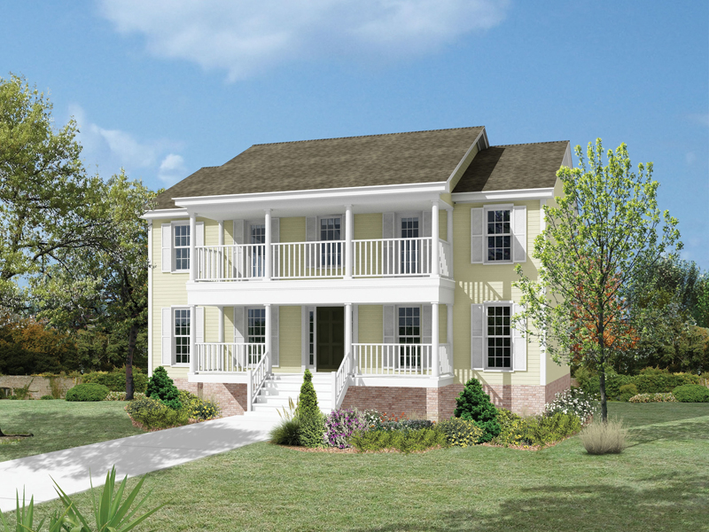 Newhall Point Colonial Home Plan 053D-0016 | House Plans and ... on colonial houses with dormers, colonial houses with shutters, colonial house with 3 car garage, colonial house with painted brick,