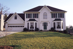 Colonial House Plan Front of House 053D-0020