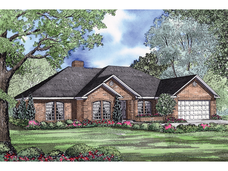 Ranch House Plan Front Image - 055D-0030   House Plans and More