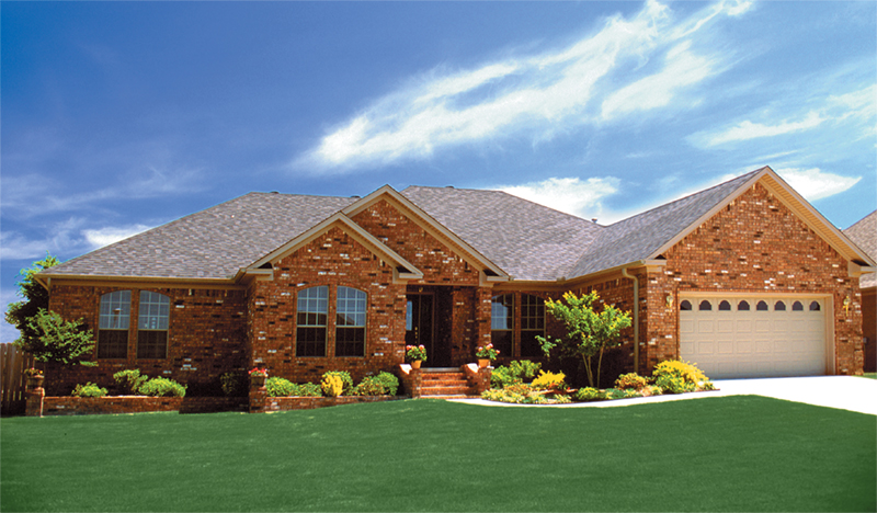 Ranch House Plan Front of Home - 055D-0030   House Plans and More