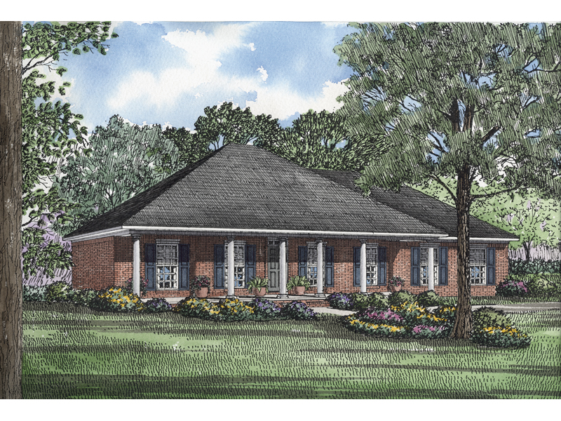 Morisa Lowcountry Home Plan 055D-0195 | House Plans and More on gazebo building plans for hip roofs, ranch house with gable roof, ranch house plans with hipped roofs, ranch house additions with hip roof, ranch homes with hip roofs, ranch house plans 1955, ranch house addition over garage,