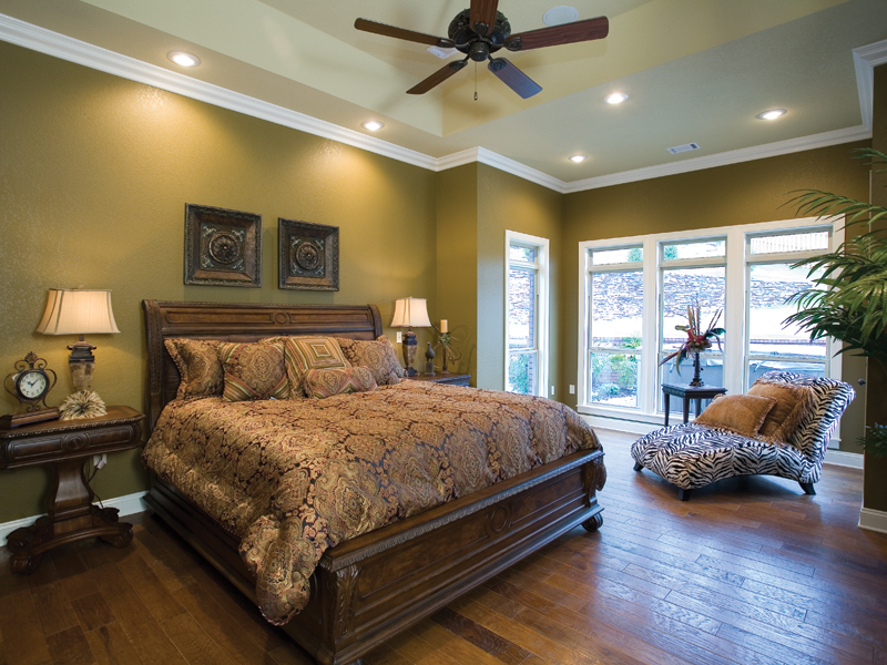 Luxury House Plan Master Bedroom Photo 01 - Denbeigh Traditional Home 055D-0202 | House Plans and More