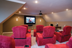 Luxury House Plan Theater Room Photo 01 - Denbeigh Traditional Home 055D-0202 | House Plans and More