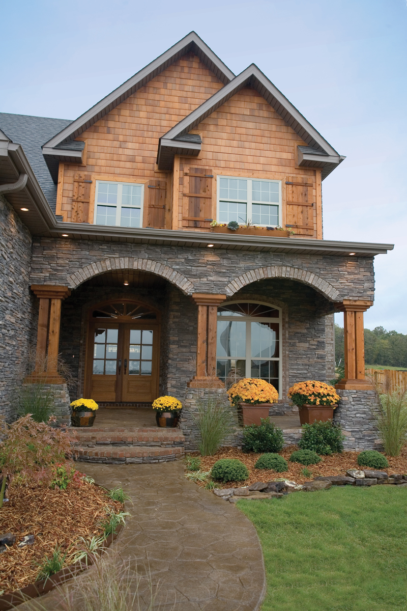 Shingle House Plan Entry Photo 01 - Charlevoix Creek Country Home 055D-0215 | House Plans and More