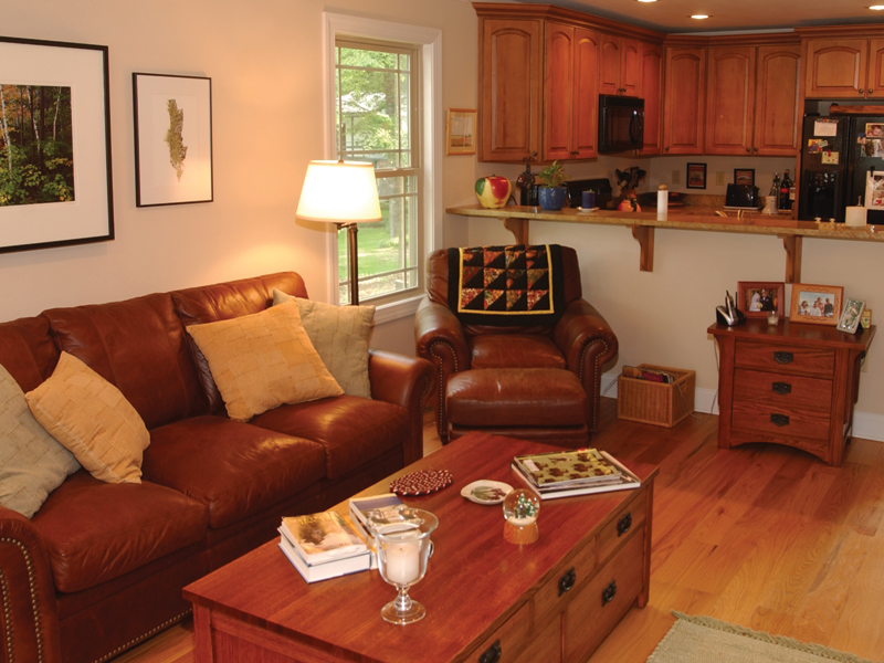 Acadian House Plan Living Room Photo 01 - Kirkland Hollow Bungalow Home 055D-0350 | House Plans and More