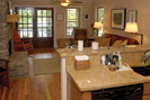 Acadian House Plan Living Room Photo 02 - Kirkland Hollow Bungalow Home 055D-0350 | House Plans and More