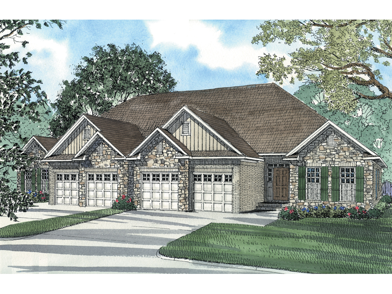 man Rustic Ranch Duplex Plan 055D-0384 | House Plans and ... on ranch home plans with carport, ranch home plans with large kitchen, ranch home plans with pool, ranch home plans with hearth rooms, log home with 4 car garage, ranch home plans with office,