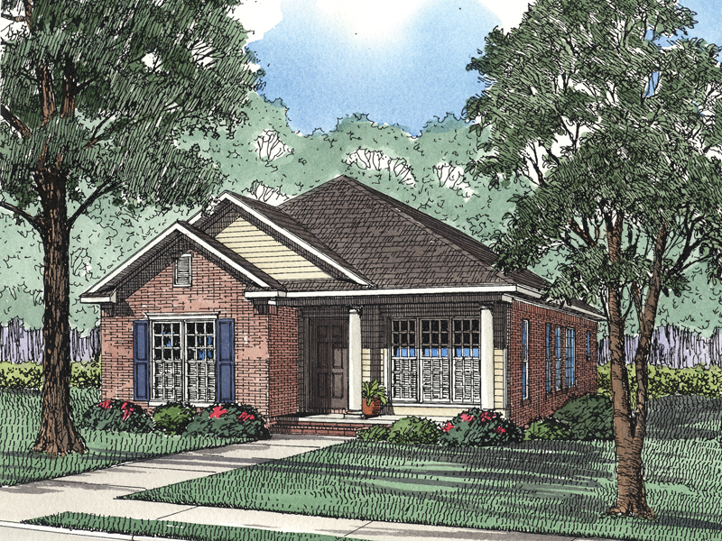 Luke Neoclical Home Plan 055D-0434 | House Plans and More on front garage curb appeal, front porch with gable roof on house, front garage french country house plans, modern farmhouse style house plans,