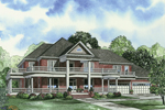 Luxury Southern Plantation Home With Wrap-Around Porch And Upper Balcony