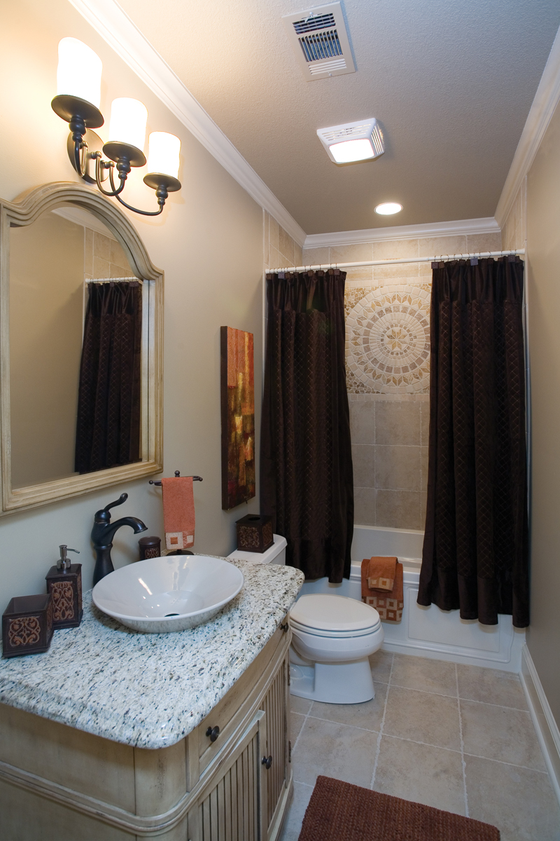 Traditional House Plan Bathroom Photo 01 - Luxury One Story House | Traditional Ranch House