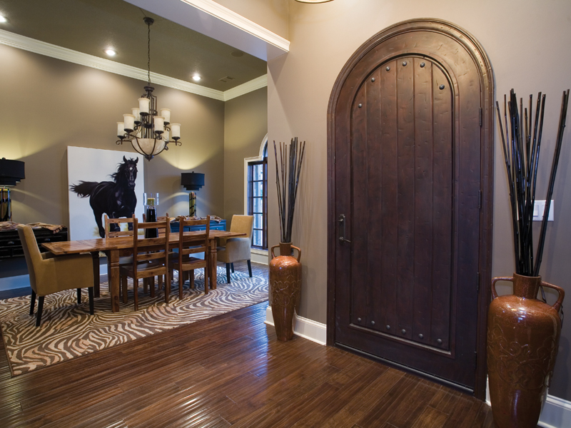 Traditional House Plan Dining Room Photo 01 - Luxury One Story House | Traditional Ranch House